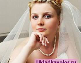 Весільні зачіски з фатою фото