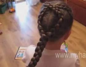 Дитячі зачіски з косами фото