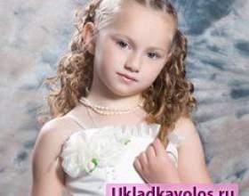 Дитячі вечірні зачіски фото