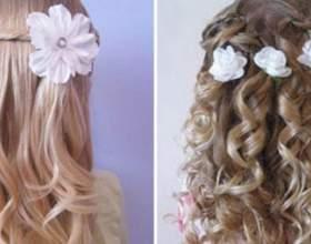 Дитячі випускні зачіски для дівчаток фото