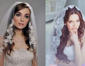 Ідеальні весільні зачіски з фатою на волосся (54 фото) різної довжини фото