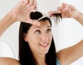 Як підстригти чубчик самостійно фото
