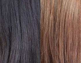 Як змити з волосся чорну фарбу фото