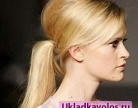 Кінський хвіст з начосом: модно і стильно фото