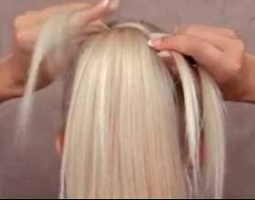 Коса-драбинка і пучок фото
