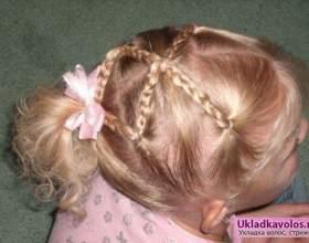 Легкі зачіски для дівчаток фото