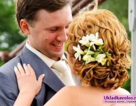 Кращі весільні зачіски на середню довжину фото