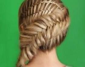 Незвичайна зачіска з 2-ма техніками плетіння: коса риб`ячий хвіст і водоспад! фото