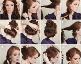 Новорічна зачіска своїми руками: фото покроково фото