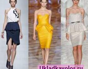 Сукня з басками - красиво і стильно фото