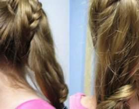 Зачіска з хвостом - косичка навколо хвоста фото