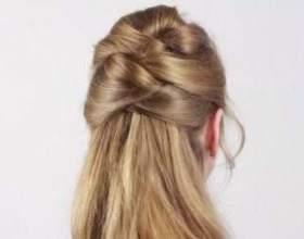 Зачіска з імітацією плетіння фото