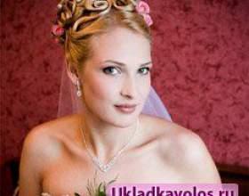 Зачіски на весілля з фатою фото