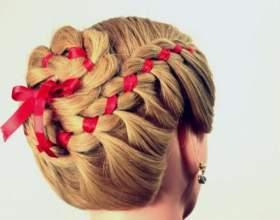 Різноманітність простих і оргинальний зачісок з стрічками фото