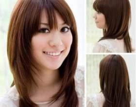 Стрижка драбинка на довге волосся фото
