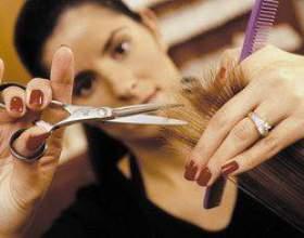 Стрижка волосся гарячими ножицями фото