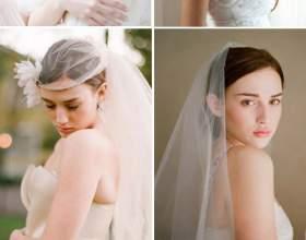 Весільні зачіски на середні волосся з фатою фото