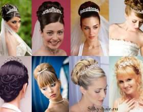 Весільні зачіски з діадемою фото