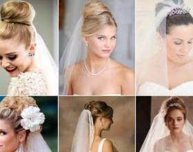 Весільні зачіски з фатою для волосся середньої довжини: втілення ідеального образу фото