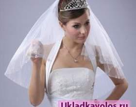 Весільні зачіски з короткою фатою фото