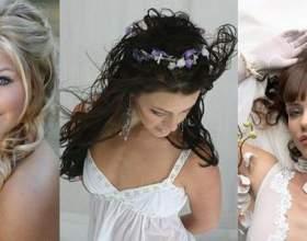 Весільні зачіски з розпущеним волоссям фото