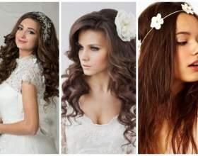 Весільні зачіски з розпущеним волоссям: витончений образ фото