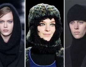Топ-річ: головні убори осені - берети і капелюхи від dsquared, капори від iceberg, хутряні шапки від donna karan, в`язані шапки від dkny фото