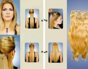 Волосся на кліпсах фото