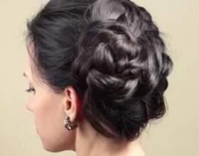Повітряна зачіска з косичок фото